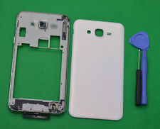 For Samsung Galaxy J7 SM-J700 White Housing Middle Frame Battery Cover