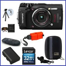 Olympus Tough Waterproof TG-5 Digital Camera (Black) 32GB with Strap Bundle
