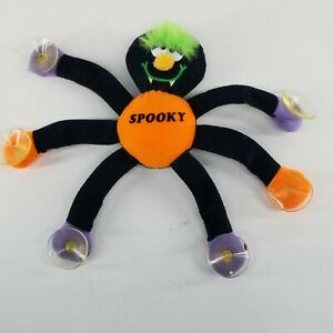 RUSS Spooky Spider Plush Window Hanging Halloween Decoration Decor Suction Cup