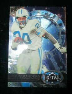 1997 Skybox Football Barry Sanders #162 Metal Universe Blue