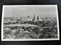 Skyline San Antonio Texas TX Real Photo Rppc Postcard Aerial View Downtown 1950s