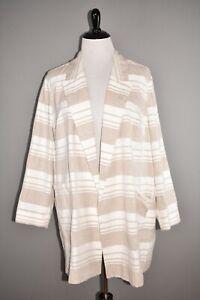 LAFAYETTE 148 NEW YORK NEW $698 Malika Striped Linen Blend Jacket 3X