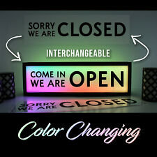 Open Business Sign Light 4 Color Restaurant Bar Bright Retail Liquor Commercial