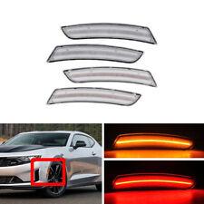 4x F&R Amber Red Led Side Marker Lights Lamp For Chevrolet Camaro 2016-2019