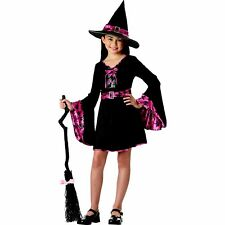 Groovy Witch Girl's Pink Skull Print Halloween Costume Child 10-12 Large #5451