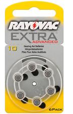 6x Rayovac Extra Advanced Typ10 Hörgerätbatterien Knopfzelle PR70