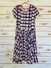 Dot Dot Smile Twirl Dress 8/10 Worn Once Leggings Material Cat Print