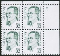 Sc # 2934 ~ Plate # Block ~ 32 cent Cal Farley Issue (db20)