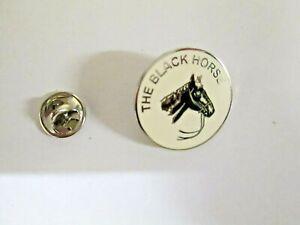 The Black Horse Lapel Pin -Chromed Metal -Enamel-25mm-Good Quality- Gift L023