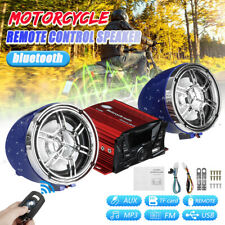 Waterproof Motorcycle bluetooth Audio Speaker Sound System SD USB MP3 FM Radio ·