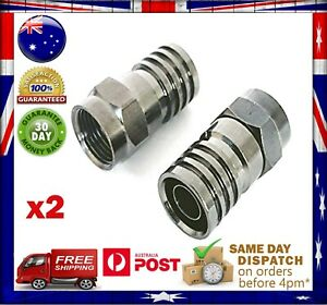 RG6 F-Type Crimp Coaxial Cable Connector for PayTV - VAST - Digital Satellite
