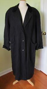 Vintage Lady Suzette Coat Maxi Rockabilly Retro Wool Blend Velvet LARGE or XL