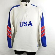 Vintage 1998 USA FIFA World Cup France Quarter Zip Pullover Jacket Medium Defect