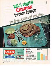PUBLICITE ADVERTISING 024   1965   CHAMEX  torchon éponge