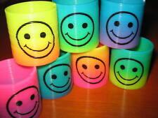 Bulk Lot x 6 Rainbow Smiley Mini Slinky Toy Novelty Party Favor New WHOLESALE