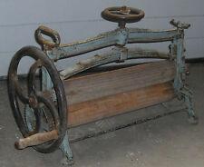 antik kurbelpresse wäsche mangel presse jugendstil kurbel wäschemangel alt deko
