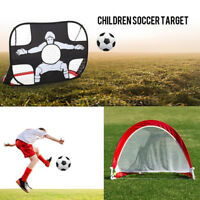 Portable Football Goal Pop Up Net Outdoor Play Training Toys Gate Soccer Kids