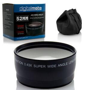 .43x 58mm Wide Angle Lens w/ Macro Close-up Focus Lens for Canon DSLR Cameras