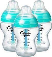 Tommee Tippee cerca de naturaleza botellas de 340ml 2pk Azul Edición Limitada Decorada