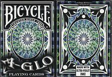 A-GLO Blue Bicycle Playing Cards Poker Size Deck USPCC Custom Limited Edition