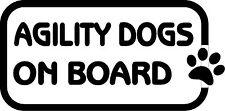 Agility Dogs On Board Car, Van sticker, decal paw print