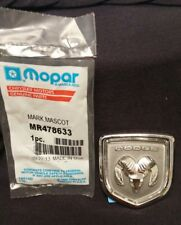 NEW GENUINE MOPAR DODGE RAM HEAD EMBLEM SILVER / CHROME