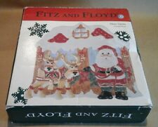 Fitz and Floyd Deer Santa Promo Canape Plate