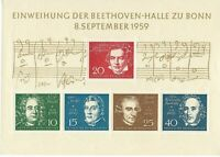 Beethoven Hall in Bonn, Germany (1959) -  sheet of 5 stamps
