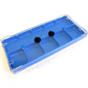 Watch Parts Storage Box Lockable With 6 Compartments & Clear Lid Swiss - HB320