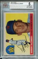 1955 '55 Topps Baseball #124 Harmon Killebrew Rookie Card RC Graded BVG EX 5