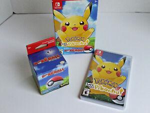 Pokemon: Let's Go, Pikachu! - Poke Ball Plus Pack (Nintendo Switch, 2018) New!