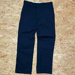 BLUE W33 L31 DICKIES 874 STRAIGHT LEG ORIGINAL FIT SKATE PANT CHINO TROUSERS