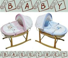 NEW Baby MOSES BASKET / Bassinet /Carrier and Baby ROCKING STAND Package