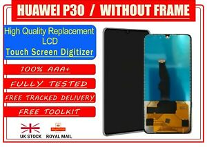 For Huawei P30 Replacement No Frame LCD Display Touch Screen Digitiser Assembly