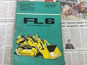 FIAT FL6 CRAWLER TRACTOR PARTS CATALOGUE