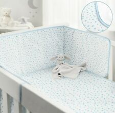 BabiesRus Cot Bumper and Cot coverlet Bedding set Blue Stars