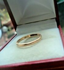 EARLY 9ct Rose Gold Wedding Band Ring h/m 1913 Birmingham  -  size i / J