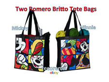 ROMERO BRITTO DISNEY 2 TOTE BAGS: MICKEY & MINNIE  ** NEW **