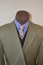 Joseph Abboud 3btn olive brown tweed silk/wool sport coat jacket blazer 44R 44S