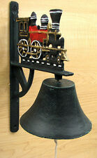 Cast Iron Wall Mount Big Bell Train for Indoor or Outdoor