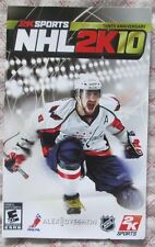 Play Station 2 PS2 - NHL 2K10 (Bilingual manual only)