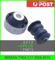 Fits NISSAN TIIDA C11 2005-2012 - Rubber Suspension Bush Front Arm Kit