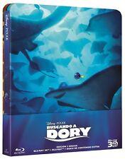BUSCANDO A DORY STEELBOOK 3D + 2 BLU RAY EDICION METALICA NUEVO ( SIN ABRIR )