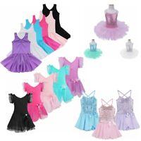 Flower Ballet Leotard Tutu Skirt Girl Kid Ballerina Princess Dress Up Dance Wear