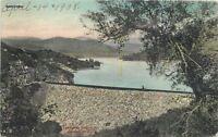 1908 Escondido San Diego California Reservoir Dam Hand Colored Rieder 12504