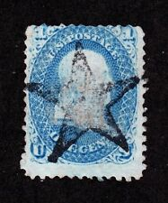 US 86 1c Franklin Used w/ Solid Star Fancy Cancel SCV $475