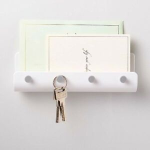 4 Hooks Wall Mount Keys Mail Letter Organizer Storage Rack Holder Hanger Home