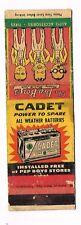 1940s V3 Pep Boys Auto Parts Manny Moe Jack Cadet Batteries Matchcover