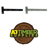 Pairs of Hook and Band Gate Hinges Heavy Duty Garden Shed Door Black Galv