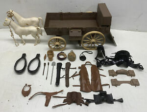 Vintage 1966 American Character Bonanza Wagon Toy Horses & Accessories